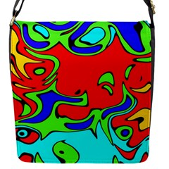 Abstract Flap Closure Messenger Bag (small) by Siebenhuehner