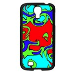 Abstract Samsung Galaxy S4 I9500/ I9505 Case (Black) Front