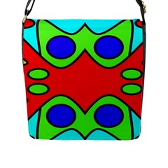 Abstract Flap Closure Messenger Bag (large) by Siebenhuehner