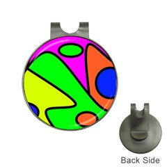 Abstract Hat Clip With Golf Ball Marker by Siebenhuehner