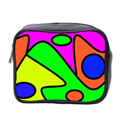 Abstract Mini Travel Toiletry Bag (two Sides) by Siebenhuehner
