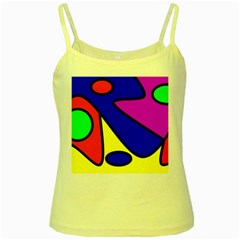 Abstract Yellow Spaghetti Tank by Siebenhuehner
