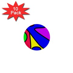 Abstract 1  Mini Button (10 Pack) by Siebenhuehner