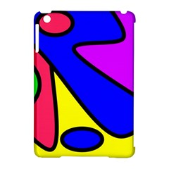 Abstract Apple Ipad Mini Hardshell Case (compatible With Smart Cover)