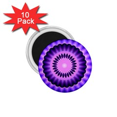 Mandala 1 75  Button Magnet (10 Pack)