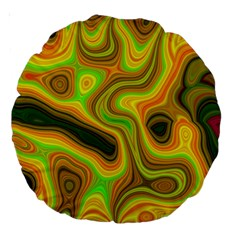 Abstract 18  Premium Round Cushion  by Siebenhuehner