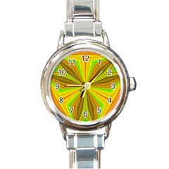 Abstract Round Italian Charm Watch by Siebenhuehner