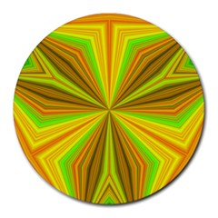 Abstract 8  Mouse Pad (round) by Siebenhuehner