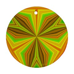 Abstract Round Ornament by Siebenhuehner