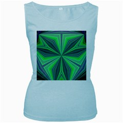 Abstract Womens  Tank Top (baby Blue) by Siebenhuehner