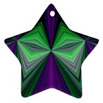 Abstract Star Ornament (Two Sides) Back