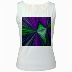 Abstract Womens  Tank Top (white) by Siebenhuehner