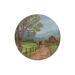 amish Buggy Going Home  By Ave Hurley Of Artrevu   Magnet 3  (round) by ArtRave2