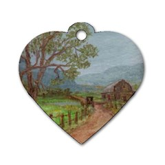 amish Buggy Going Home  By Ave Hurley Of Artrevu   Dog Tag Heart (two Sides) by ArtRave2