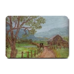 amish Buggy Going Home  By Ave Hurley Of Artrevu   Small Doormat by ArtRave2