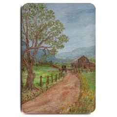amish Buggy Going Home  By Ave Hurley Of Artrevu   Large Doormat
