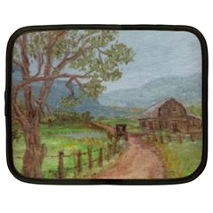 amish Buggy Going Home  By Ave Hurley Of Artrevu   Netbook Case (xxl)