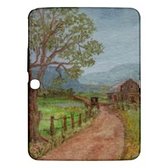 amish Buggy Going Home  By Ave Hurley Of Artrevu   Samsung Galaxy Tab 3 (10 1 ) P5200 Hardshell Case  by ArtRave2