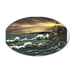 bridget s Lighthouse   By Ave Hurley Of Artrevu   Magnet (oval) by ArtRave2