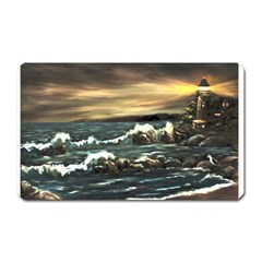 bridget s Lighthouse   By Ave Hurley Of Artrevu   Magnet (rectangular) by ArtRave2