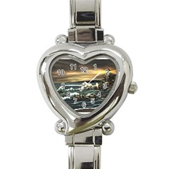 bridget s Lighthouse   By Ave Hurley Of Artrevu   Heart Italian Charm Watch by ArtRave2