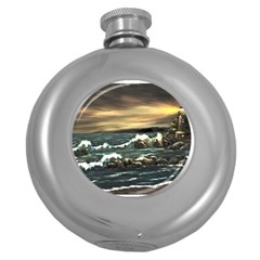 bridget s Lighthouse   By Ave Hurley Of Artrevu   Hip Flask (5 Oz) by ArtRave2