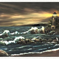 bridget s Lighthouse   By Ave Hurley Of Artrevu   Canvas 12  X 12  by ArtRave2