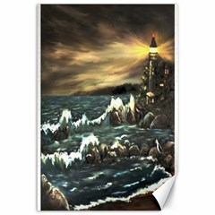 bridget s Lighthouse   By Ave Hurley Of Artrevu   Canvas 12  X 18  by ArtRave2