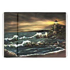 bridget s Lighthouse   By Ave Hurley Of Artrevu   Samsung Galaxy Tab 8 9  P7300 Flip Case