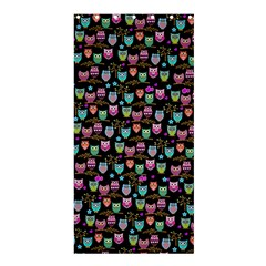 Happy Owls Shower Curtain 36  X 72  (stall) by Ancello