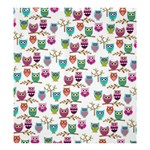 happy owls Shower Curtain 66  x 72  (Large) 58.75 x64.8 Curtain