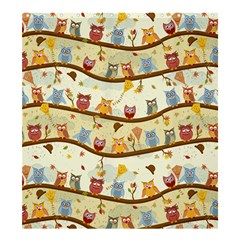 Autumn Owls Shower Curtain 66  X 72  (large) by Ancello