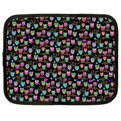 Happy Owls Netbook Sleeve (xxl) by Ancello