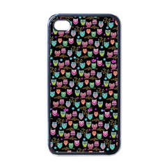 Happy Owls Apple Iphone 4 Case (black) by Ancello