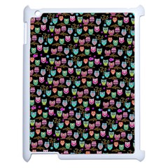 Happy Owls Apple Ipad 2 Case (white) by Ancello