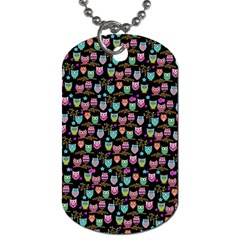 Happy Owls Dog Tag (two Sided)