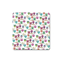 Happy Owls Magnet (square) by Ancello