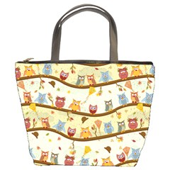 Autumn Owls Bucket Handbag by Ancello