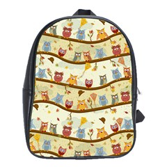 Autumn Owls School Bag (large) by Ancello