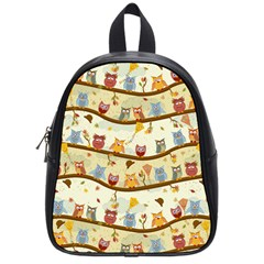 Autumn Owls School Bag (small) by Ancello