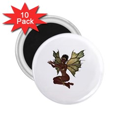 Faerie Nymph Fairy With Outreaching Hands 2 25  Button Magnet (10 Pack) by goldenjackal
