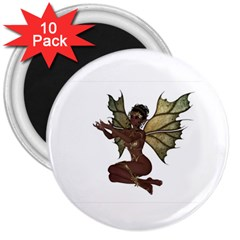 Faerie Nymph Fairy With Outreaching Hands 3  Button Magnet (10 Pack) by goldenjackal