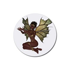 Faerie Nymph Fairy With Outreaching Hands Drink Coasters 4 Pack (round) by goldenjackal