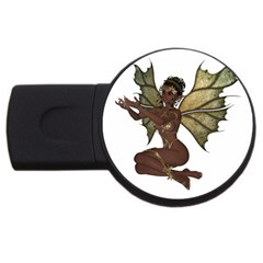 Faerie Nymph Fairy With Outreaching Hands 2gb Usb Flash Drive (round) by goldenjackal