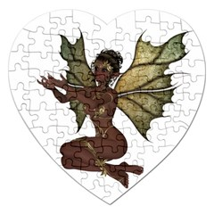 Faerie Nymph Fairy With Outreaching Hands Jigsaw Puzzle (heart) by goldenjackal