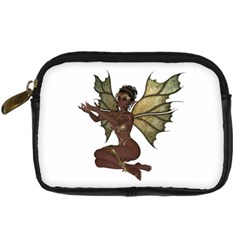 Faerie Nymph Fairy With Outreaching Hands Digital Camera Leather Case by goldenjackal