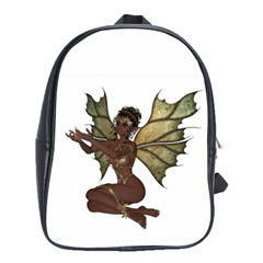 Faerie Nymph Fairy With Outreaching Hands School Bag (large) by goldenjackal
