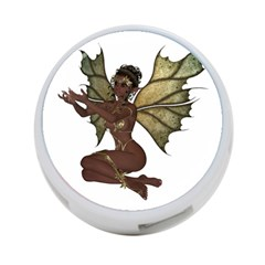 Faerie Nymph Fairy With Outreaching Hands 4 Port Usb Hub (one Side) by goldenjackal