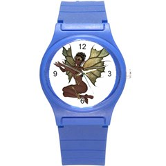 Faerie Nymph Fairy With Outreaching Hands Plastic Sport Watch (small) by goldenjackal