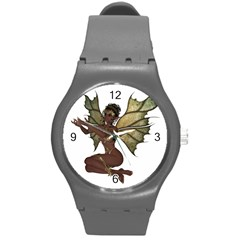 Faerie Nymph Fairy With Outreaching Hands Plastic Sport Watch (medium) by goldenjackal